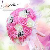 手棒花 結婚手捧花韓式新娘仿真手捧花中式婚慶伴娘歐式婚禮拍攝婚禮花束 至簡元素