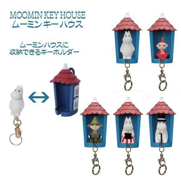 尼德斯Nydus~* 日本正版 嚕嚕米 Moomin 姆明 史力奇 阿美 鑰匙圈 鑰匙盒 可攜式 背面吸鐵/ 可掛式