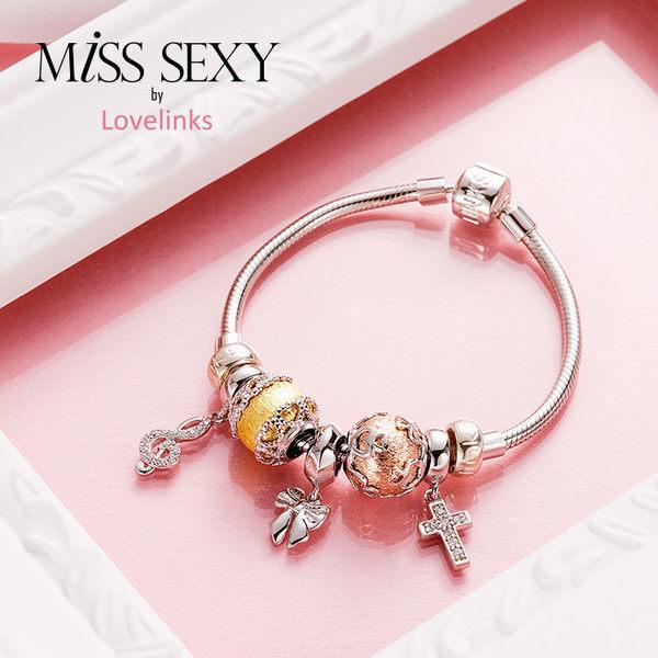 【Lovelinks】LS108 / 金色維納斯手環 - 六件特惠組(串飾五個+手鍊一條)