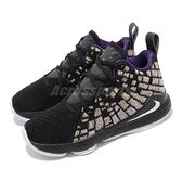 Nike 籃球鞋 LeBron XVII PS 黑 黃 童鞋 中童鞋 運動鞋 LBJ 詹姆士 【ACS】 BQ5595-004