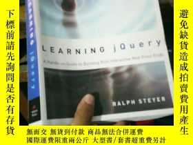 二手書博民逛書店Learning罕見jQuery: A Hands-on Gui
