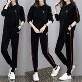 中大尺碼XL-4XL/胖妹加大碼運動套裝金絲天鵝絨休閑衛衣兩件套4F072.6665韓衣紡