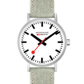 MONDAINE 瑞士國鐵Classic腕錶-40mm/霧銀 66016BG