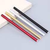 金屬手感中性筆 0.5mm 黑色 學生用品 設計 辦公用品 創意 文具 米菈生活館【P137】