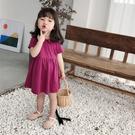 女童裝夏款新款韓版中小童寶寶公主裙子娃娃領洋氣兒童洋裝 夏季新品