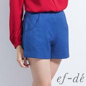 【ef-de】激安 素色簡約百搭短褲(藍)