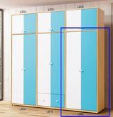 【新北大】T026-3 傑克藍白2.5尺衣櫥(雙門)(J02)-2019購