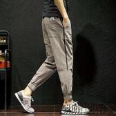 新款束腳休閒褲男士加大修身小腳長褲韓版潮流男褲子【潮咖地帶】