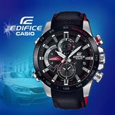 CASIO手錶專賣店   CASIO EDIFICE_EQB-800BL-1A_礦物玻璃_藍牙_太陽能_真皮錶帶_男錶