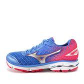 Mizuno Wave Rider 19 (W) [J1GD160301] 美津濃 運動鞋 女 走路 跑步 慢跑  藍  粉紅