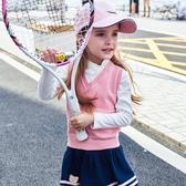 兒童針織背心 女童背心毛衣馬甲2020新款寶寶純棉針織衫上衣女孩小童v領毛線衣 小宅女