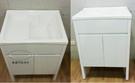 【麗室衛浴】壓克力洗衣槽+發泡板防水浴櫃鋼烤白色 P-351