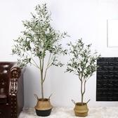北歐ins風仿真橄欖樹盆栽網紅大型綠植物室內假裝飾客廳落地擺件 NMS 樂活生活館
