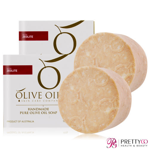 OLIVE OIL 火山沸石.初榨橄欖手工皂(100g)X2【美麗購】