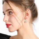時尚貝殼貝珠氣質耳環女個性百搭簡約短吊墜耳墜 sxx331 【極致男人】