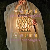 藤編燈籠手工手提燈籠古風漢服攝影拍照道具庭院裝飾宮燈【奇妙商舖】