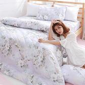 [SN]#L-UBB026#細磨毛天絲絨5x6.2尺標準雙人床包被套四件組-台灣製