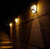 太陽能電燈戶外小路燈家用庭院燈景觀燈光控感應防水壁燈迷妳小巧