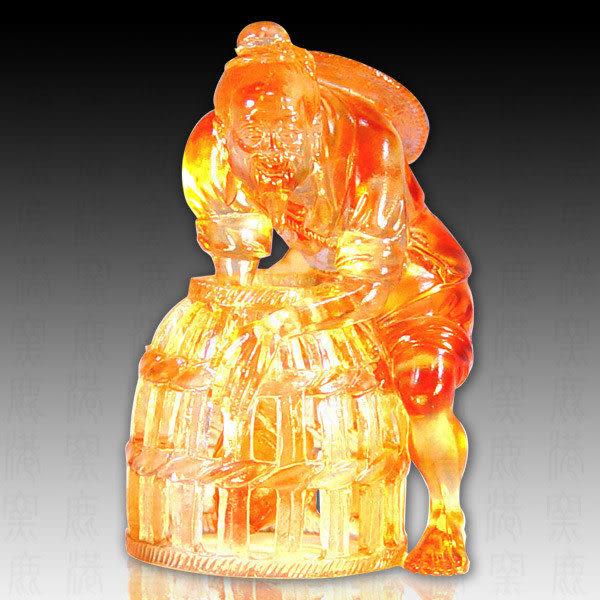 水晶琉璃▲▲漁翁得利▲▲  ◆附古法制作珍藏保證卡◆免運費送到家
