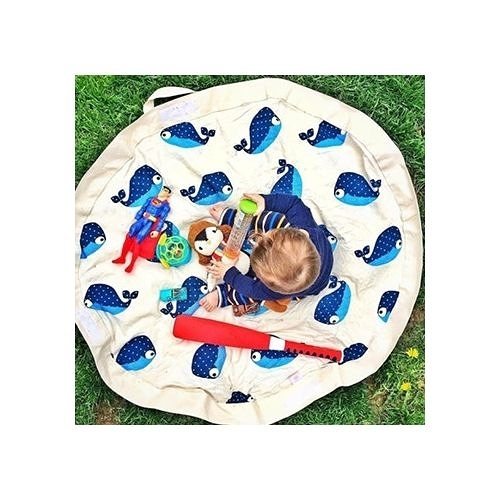 加拿大 3 Sprouts 玩具收納袋-鯨魚(玩具秒收神器)[衛立兒生活館]