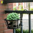真秦漢鐵藝多層護欄陽臺欄桿懸掛花架多肉綠蘿單個花盆架
