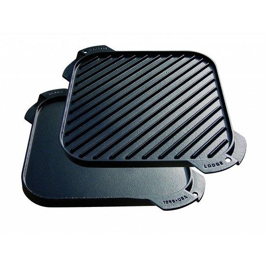 Lodge正反面兩用正方形牛排烤盤41*38cm