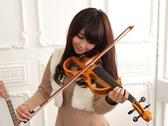 小叮噹的店- 電子小提琴 JYVL-D871N  雲杉 靜音小提琴