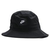 NIKE 漁夫帽 NSW BUCKET 黑 白LOGO 帆布 帽子 男女 (布魯克林) CK5324-010