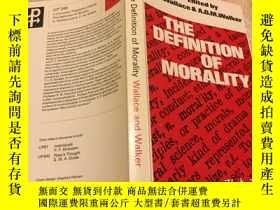 二手書博民逛書店Definition罕見of Morality道德的定義(大學書