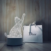 3D小夜燈LED床頭臥室小台燈少女心創意生日禮物送女朋友