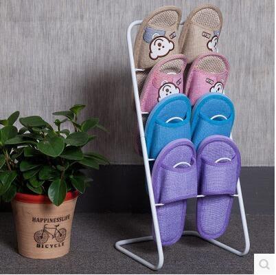 多層簡易宿舍客廳創意現代簡約鐵藝收納拖鞋架SJ177『時尚玩家』