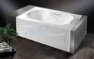 【麗室衛浴】國產壓克力造型浴缸 LS-6120 120*70*外H48CM 含固定式前牆一面