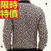 棒球外套男夾克-保暖棉質典型休閒隨意運動風簡單精緻1色59h94【巴黎精品】