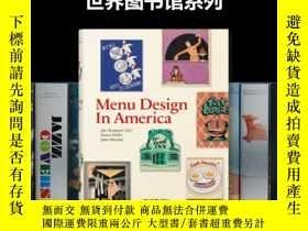二手書博民逛書店【BU罕見世界圖書館系列】Menu Design in Amer