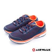 AIRWALK(男) - 輕勢力 雙層彈力網布透氣運動鞋-桔藍