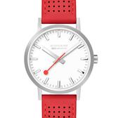 MONDAINE 瑞士國鐵Classic經典系列腕錶-40mm/櫻桃紅 66016BC