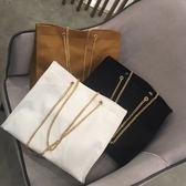 韓國東大門新款女包金屬鍊條大包包ins同款復古簡約百搭購物