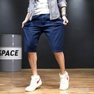 短褲 胖加肥加大碼五分褲夏季男士休閒短褲寬鬆馬褲5分褲男肥佬七分褲 16【618特惠】