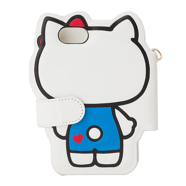 【震撼精品百貨】Hello Kitty 凱蒂貓~HELLO KITTY iPhone7 PU皮革折式保護套(KITTY全身)