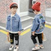 男童牛仔外套 秋裝長袖短款洋氣中大尺碼上衣小童時尚韓版寶寶夾克 QG7808『優童屋』