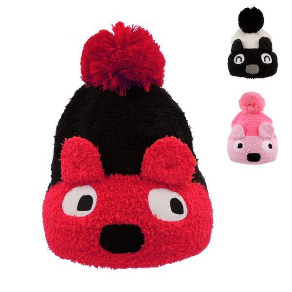 WHY AND 1/2 普普熊保暖針織帽 多色可選