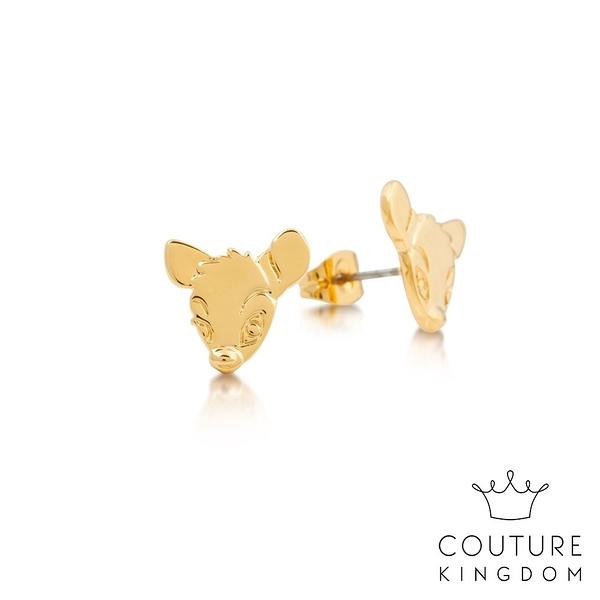 Couture Kingdom 迪士尼小鹿斑比 鍍14K金耳釘 Bambi Stud Earrings
