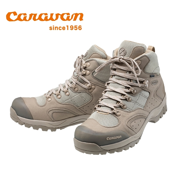 日本Caravan】 C1_02S 中筒登山健行鞋 2020限定版 沙褐色