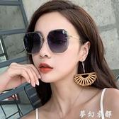 年新款ins墨鏡女偏光太陽眼鏡GM韓版潮圓臉防紫外線大臉顯瘦 雙十二全館免運