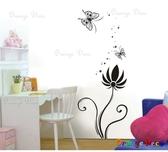 壁貼【橘果設計】花蝶 DIY組合壁貼/牆貼/壁紙/客廳臥室浴室幼稚園室內設計裝潢