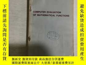 二手書博民逛書店COMPUTER罕見EVALUATION OF MATHEMAT