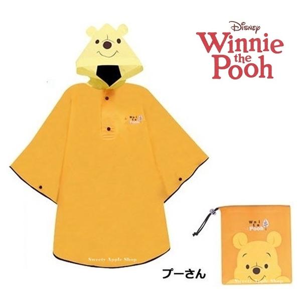 日本限定 迪士尼 小熊維尼 大臉版 兒童 雨衣 (115~125cm)