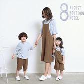 VQB親子裝夏裝新款潮春裝一家三口母子母女全家裝夏棉麻套裝【卡米優品】
