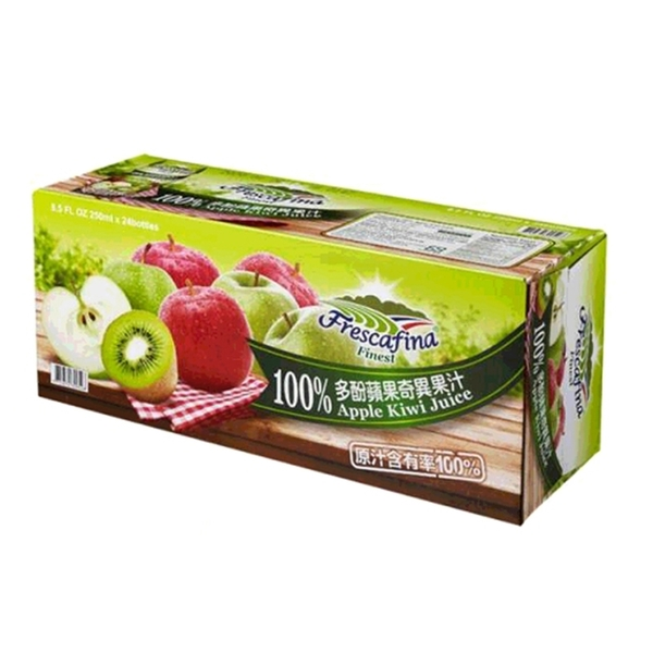 [COSCO代購] W111425 嘉紛娜 100% 多酚蘋果奇異果汁 250毫升 X 24入