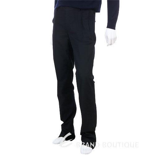 KENZO 兩側抓褶車縫休閒褲(黑色) 0511100-01